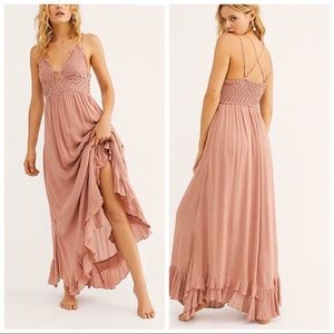 Free People • Adella Pink Maxi Dress